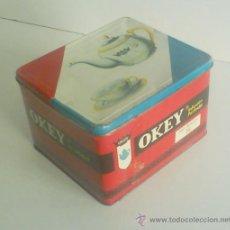 Cajas y cajitas metálicas: ANTIGUA CAJA METÁLICA DE TE OKEY. Lote 26550746