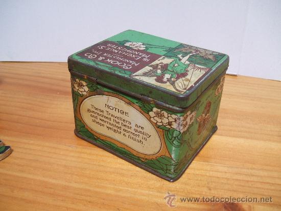 Cajas y cajitas metálicas: Caja metalica inglesa-modernista. - Foto 2 - 97740092