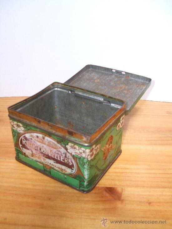 Cajas y cajitas metálicas: Caja metalica inglesa-modernista. - Foto 3 - 97740092
