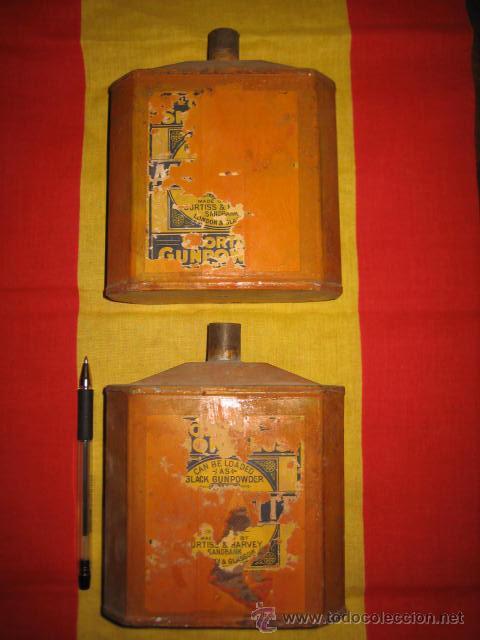 CAJA LATA DE POLVORA (Cajas y Envases - Cajas y Cajitas Metálicas)