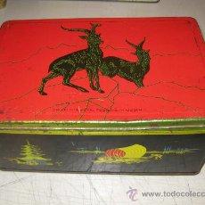 Cajas y cajitas metálicas: CAJA AZAFRAN POLLUELOS - NOVELDA (ALICANTE) - HOJALATA. Lote 15259804