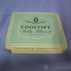 Boîtes et petites boîtes métalliques: ANTIGUA CAJA DE METALICA DE TABACO ABDULLA COOLTIPT.- INGLES. Lote 23217467