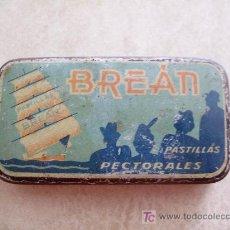 Cajas y cajitas metálicas: CAJA METALICA DE PASTILLAS PECTORALES BREAN. Lote 13308764