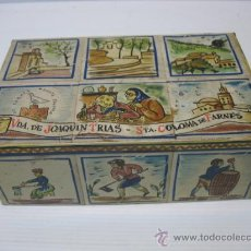 Cajas y cajitas metálicas: CAJA METALICA DE TEULAS Y CROCANTIS, VIUDA DE JOAQUIN TRIAS, STA COLOMA DE FARNES. Lote 24655526