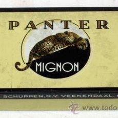 Cajas y cajitas metálicas: CAJA CIGARROS PANTER MIGNON HOLLAND. Lote 12379359