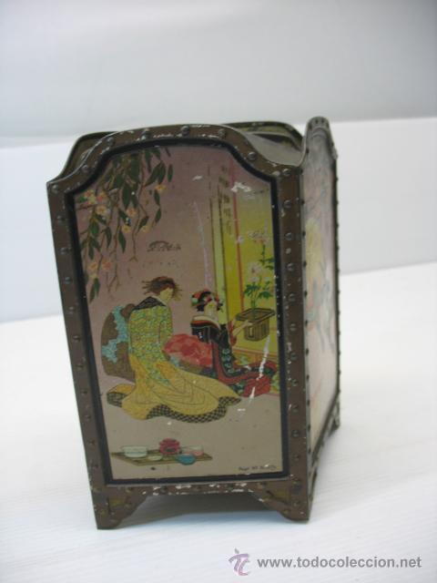 CAJITA METALICA CON MOTIVOS CHINOS (Coleccionismo - Cajas y Cajitas Metálicas)