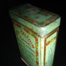 Cajas y cajitas metálicas: CELSUS VITA CALCIUM CAJA METALICA FARMACIA - 10,5X6,5X3 CM-. Lote 39949838