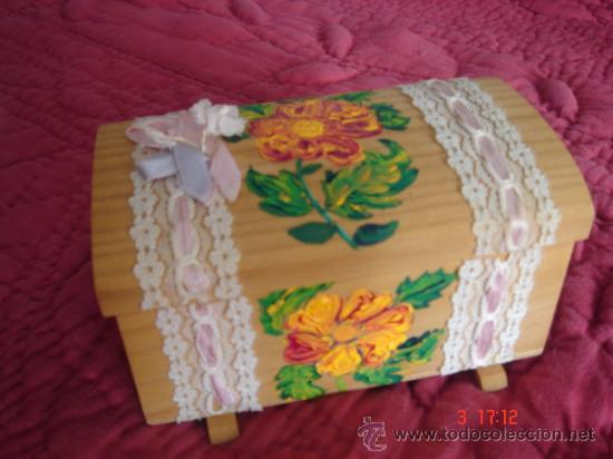 bonita caja de madera decorada a mano para joyero o para guardar algn secretillo - Cajas De Madera Decoradas
