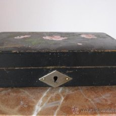 Cajas y cajitas metálicas: CAJITA JOYERO MADERA PINTADA. Lote 15874433