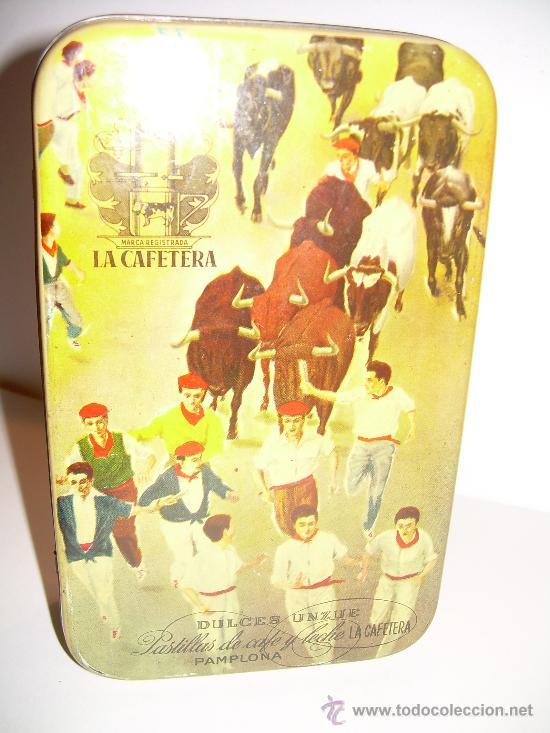 ANTIGUA CAJA METALICA DULCES LA CAFETERA (Coleccionismo - Cajas y Cajitas Metálicas)