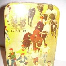 Cajas y cajitas metálicas: ANTIGUA CAJA METALICA DULCES LA CAFETERA. Lote 24059133