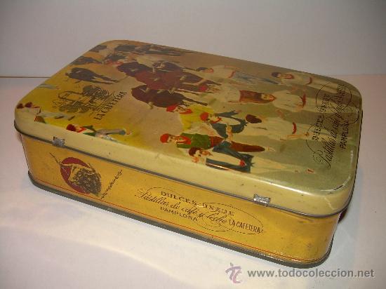 Cajas y cajitas metálicas: ANTIGUA CAJA METALICA DULCES LA CAFETERA - Foto 2 - 24059133