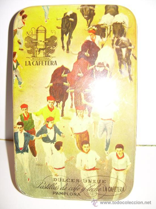 Cajas y cajitas metálicas: ANTIGUA CAJA METALICA DULCES LA CAFETERA - Foto 3 - 24059133