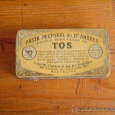Cajas y cajitas metálicas: BONITA CAJA METÁLICA PASTA PECTORAL DEL DR. ANDREU.. Lote 26409861