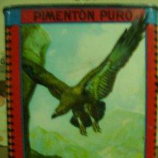 Cajas y cajitas metálicas: BUENA CAJA DE PIMENTON- EL AGUILA -JESUS CANO ESPINARDO -MURCIA. Lote 20101636
