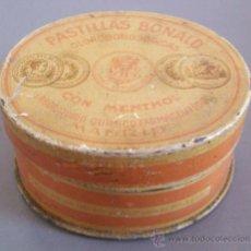 Cajas y cajitas metálicas: CAJA METALICA DE FARMACIA: PASTILLAS BONALD (5,5X4,5CM APROX). Lote 21929615