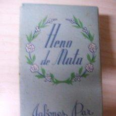 Cajas y cajitas metálicas: CAJA DE JABON DE MANO HENO DE MATA-DE JABONES PAR -GRASAS Y JABONES SA -BARCELONA. Lote 52930503
