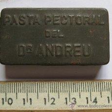 Cajas y cajitas metálicas: CAJA PASTA PECTORAL DOCTOR ANDREU - HOJALATA MEDICAMENTOS. Lote 15843075