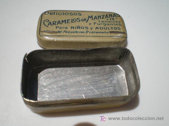 Cajas y cajitas metálicas: CAJA DE CHAPA DE CARAMELOS DE MANZANA FE - Foto 2 - 27013202