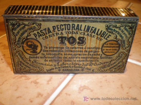 ANTIGUA LATA DE CHAPA - PASTA PECTORAL INFALIBLE - TOS (Coleccionismo - Cajas y Cajitas Metálicas)
