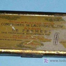 Cajas y cajitas metálicas: CAJITA METÁLICA COMPRIMIS DE LACTOBACILLINE DE LA SOCIETE LE FERMENT. 10X4,5X1,5 CM. Lote 25644357