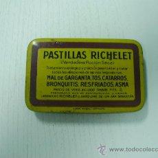 Cajas y cajitas metálicas: CAJITA METALICA DE PASTILLAS RICHELET. Lote 23401142