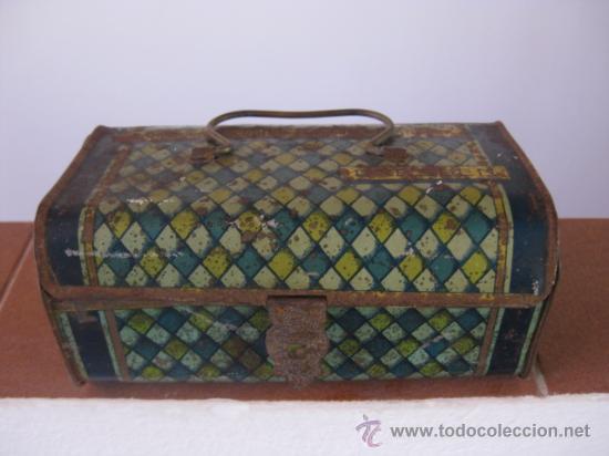 Cajas y cajitas metálicas: CAJA DRESDEN - HOJALATA CARTERITA O CABAS - Foto 2 - 17806210