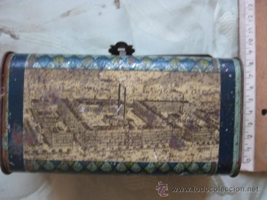 Cajas y cajitas metálicas: CAJA DRESDEN - HOJALATA CARTERITA O CABAS - Foto 3 - 17806210