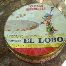 Cajas y cajitas metálicas: CAJA METALICA DE LATA -TORTAS IMPERIALES ,TURRONES EL LOBO, JIJONA. Lote 25174154