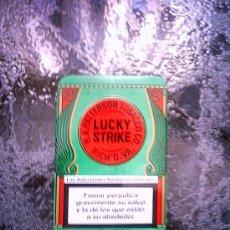 Cajas y cajitas metálicas: CAJA METALICA VACÍA DE LUCKI STRIKE. Lote 96650218