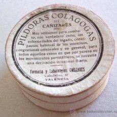 Cajas y cajitas metálicas: CAJA DE FARMACIA: PILDORAS COLAGOGAS, LABORATORIOS CAÑIZARES, VALENCIA (CARTON, VACIA, 5,3CM APROX). Lote 24364824