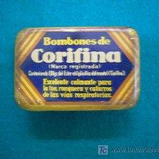 Cajas y cajitas metálicas: CAJA METALICA DE HOJALATA PASTILLAS BOMBONES DE CORIFINA . Lote 22398806
