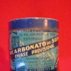 Cajas y cajitas metálicas: BOTE BICARBONATO DE SOSA FARMACIA DE TORRES MUÑOZ. Lote 17767929