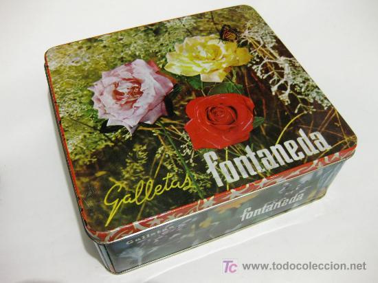 CAJA DE LATA DE GALLETAS FONTANEDA DE LOS AÑOS 60 (Coleccionismo - Cajas y Cajitas Metálicas)