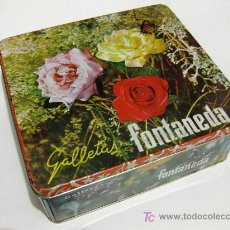 Cajas y cajitas metálicas: CAJA DE LATA DE GALLETAS FONTANEDA DE LOS AÑOS 60. Lote 26535270