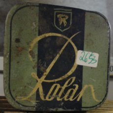 Cajas y cajitas metálicas: CAJITA ROLAN, CON VIÑETA. Lote 18286574