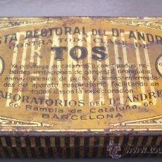Cajas y cajitas metálicas: CAJITA METALICA DE FARMACIA: PASTA PECTORAL DEL DR ANDREU CONTRA TOS (5,5X10CM APROX). Lote 25210380