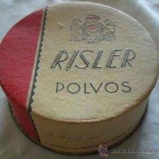Cajas y cajitas metálicas: CAJA DE POLVOS COMPACTOS RACHEL CLARO - RISLER - PERFUMERIA PARERA. Lote 43609616