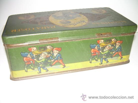 Cajas y cajitas metálicas: ANTIGUA CAJA METALICA LITOGRAFIADA - Foto 2 - 24547693