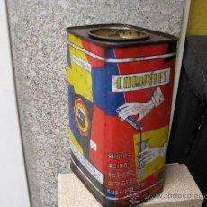 Cajas y cajitas metálicas: LATA INGLESA DE AÑILINA - APA DE ENCAJE CIRCULA - OXIDO EN LAS BASES Y MOTAS LATERALES + INFO. Lote 18911229