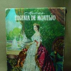Cajas y cajitas metálicas: CAJA VACIA, MEDIAS, EUGENIA DE MONTIJO, CARTON, NYLON SAFA. Lote 19248322