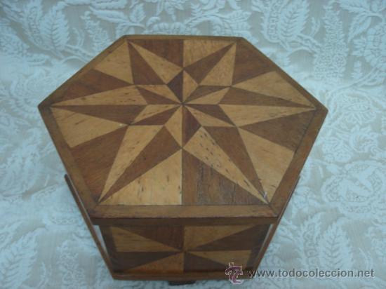 Caja antigua de madera con marqueteria en form comprar - Madera para marqueteria ...