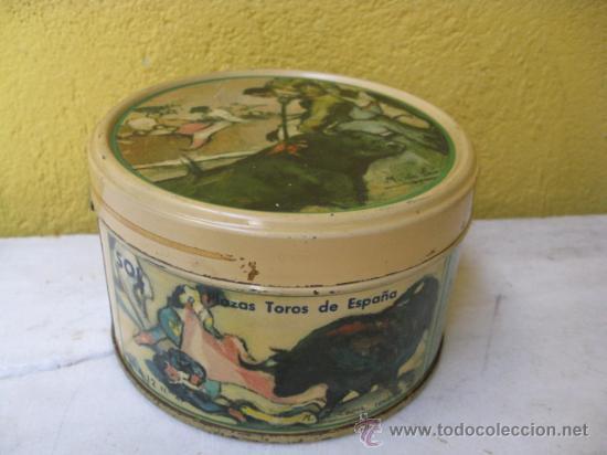 CAJA CHAPA SERIGRAFIADA CARAMELOS CAFE Y LECHE LA CABRA - LOGROÑO PERFECTA 13X8CM + INFO. (Coleccionismo - Cajas y Cajitas Metálicas)