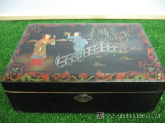 Cajas y cajitas metálicas: CAJA JOYERO CON MOTIVOS CHINOS - Foto 2 - 20226029