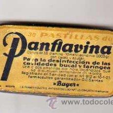 Cajas y cajitas metálicas: CAJITA METALICA LITOGRAFIADA - BAYER - 30 PASTILLAS DE PANFLAVINA. Lote 20441238