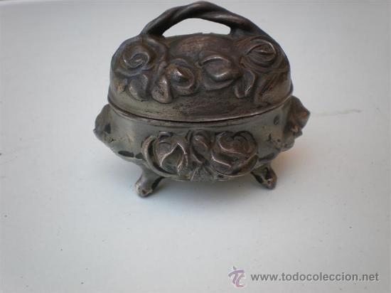 PEQUEÑO JOYERITO DE ESTAÑO (Coleccionismo - Cajas y Cajitas Metálicas)