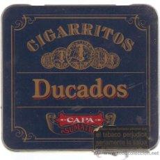 Cajas y cajitas metálicas: CAJA VACIA CIGARRITOS DUCADOS CAPA SUMATRA. Lote 21029977