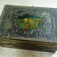 Cajas y cajitas metálicas - caja metal.- laton / hojalata.- gran formato.- 40 cm. x 28 cm. x 16 cm.- sin datos.- años 50 / 60 - 25321750