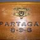 Cajas y cajitas metálicas: ANTIGUA CAJA DE MADERA NOBLE...........PUROS..............PARTAGAS 8.9.8. Lote 21129943