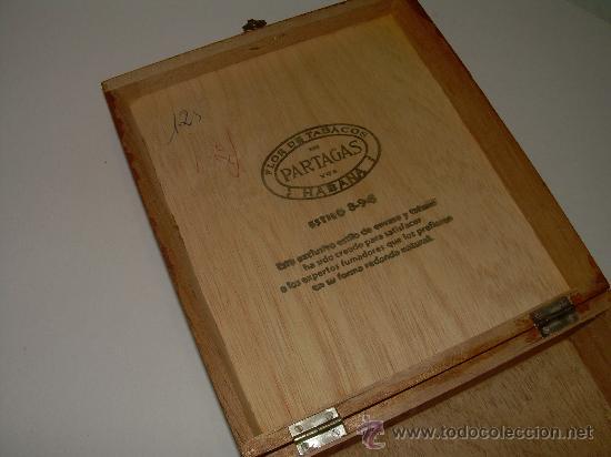Cajas y cajitas metálicas: ANTIGUA CAJA DE MADERA NOBLE...........PUROS..............PARTAGAS 8.9.8 - Foto 2 - 21129943